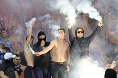 乌克兰语英格兰足球超级联赛:发电机Kyiv对Shakhtar顿涅茨克 图库摄影
