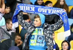乌克兰语英格兰足球超级联赛:发电机Kyiv对Shakhtar顿涅茨克 免版税库存照片
