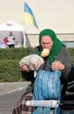 乌克兰选举人 库存图片