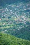 乌克兰镇在山谷 库存图片