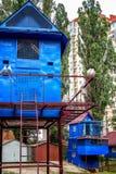 乌克兰鸽房在基辅在夏天 库存照片
