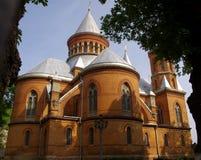 乌克兰,切尔诺夫策 圣洁传道者彼得和保罗的亚美尼亚语天主教 图库摄影