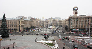 乌克兰,基辅, Maidan Nezalezhnosti 2013年 免版税库存图片
