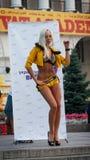 乌克兰,基辅- 9月11,2013 :Th的纵火舞蹈舞蹈家 库存图片