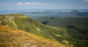 乌克兰, Carpathians,山横向 库存照片