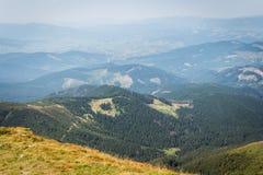 乌克兰, Carpathians,山横向 免版税库存照片