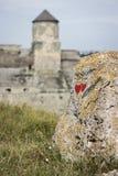 乌克兰, Kamyanets-Podilskyy,与重点的石头 免版税库存照片