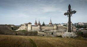 乌克兰, Kamyanets-Podilskyy,中世纪城堡 免版税库存照片