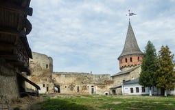 乌克兰, Kamyanets-Podolskiy,在城堡里面 库存照片