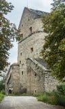 乌克兰, Kamyanets-Podolskiy,老墙壁塔 库存图片