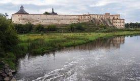 乌克兰, Medzhybizh,中世纪城堡 库存照片