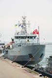 乌克兰, Odesa - 2017年3月, 18日:在傲德萨口岸军事船 免版税图库摄影