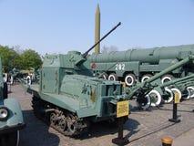 乌克兰 基辅 巨大爱国战争的博物馆纪念复合体  军用设备 减速火箭的坦克 图库摄影