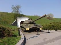 乌克兰 基辅 巨大爱国战争的博物馆纪念复合体  军用设备 坦克T-10 免版税库存照片