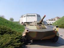 乌克兰 基辅 巨大爱国战争的博物馆纪念复合体  军用设备 ACR BMD 免版税图库摄影