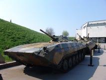 乌克兰 基辅 巨大爱国战争的博物馆纪念复合体  军用设备 ACR BMP-1 免版税库存图片