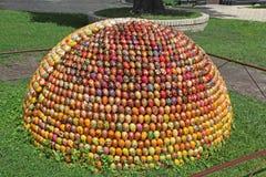 乌克兰 基辅 雕塑,包括3000个鸡蛋 库存照片