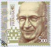 乌克兰- 2017年:展示罗德・霍夫曼出生的赛峰1937年,美国理论化学家,诺贝尔 免版税库存图片
