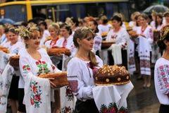 乌克兰` s美国独立日 库存图片