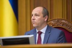 乌克兰Andriy Parub的Verkhovna Rada的主席 免版税图库摄影