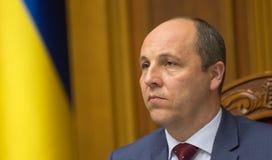 乌克兰Andriy Parub的Verkhovna Rada的主席 免版税库存图片