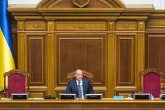 乌克兰Andriy Parubiy的Verkhovna Rada的主席 免版税图库摄影