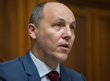 乌克兰Andriy Paruby的Verkhovna Rada的主席 免版税库存照片