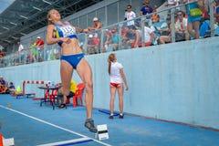乌克兰athleteUkraine运动员 库存照片