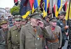 乌克兰people_的解放奋斗的参加者 免版税库存照片