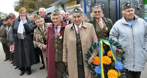 乌克兰people_的解放奋斗的参加者 库存照片