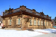 乌兰乌德,布里亚特共和国,俄罗斯,2019年3月5日 居住在贝加尔湖后的人民的民族志学博物馆 库存照片