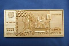 乌兰乌德,布里亚特共和国,俄罗斯04 22 2019? 公平地俄语和Buryat民间纪念品工艺陈列和销售  免版税库存图片