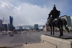 乌兰巴托或Ulaanbataar,蒙古 库存图片
