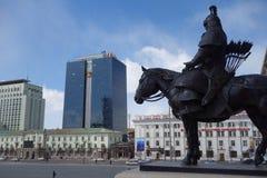 乌兰巴托或Ulaanbataar,蒙古 库存照片
