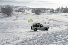 乌兰Buh草原在冬天 库存照片