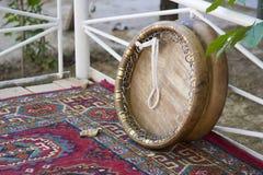 乌兹别克人国家乐器 免版税库存照片
