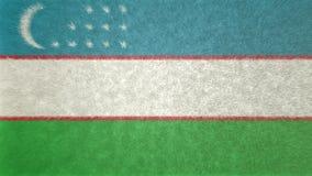 乌兹别克斯坦旗子的原始的3D图象  图库摄影