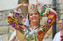 乌兹别克斯坦舞蹈家 库存图片