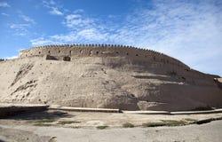 乌兹别克斯坦 Khiva 古老城市墙壁 图库摄影