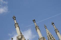 乌尔姆大教堂石峰和尖顶  库存照片