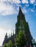 乌尔姆MÃ ¼ nster大教堂教会德国欧洲 图库摄影