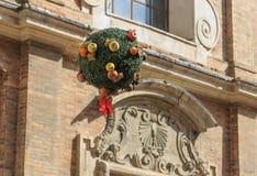 乌尔比诺,意大利- 2017年8月9日:收获节日的装饰 库存照片