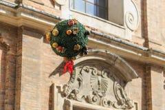 乌尔比诺,意大利- 2017年8月9日:收获节日的装饰 免版税库存照片