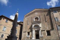 乌尔比诺,马尔什地区艺术城市,意大利,欧洲 免版税库存图片