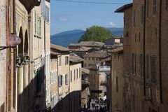 乌尔比诺,马尔什地区艺术城市,意大利,欧洲 库存图片