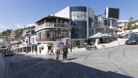 乌尔齐尼小镇在黑山 图库摄影