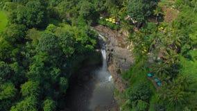 乌布巴厘岛Tegenungan瀑布的航拍 股票录像