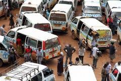 乌干达人在出租汽车公园 免版税库存照片
