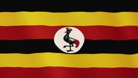 乌干达沙文主义情绪的动画 整个银幕 国家的标志 向量例证
