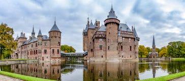 乌得勒支荷兰11-26-2015;城堡德哈尔全景照片在乌得勒支,荷兰 免版税库存图片